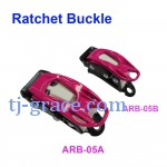 AL. RATCHET BUCKLE FOR SNOWBOARD BINDING, SKI
