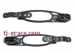 Plastic ankle strap toe strap for snowboard binding